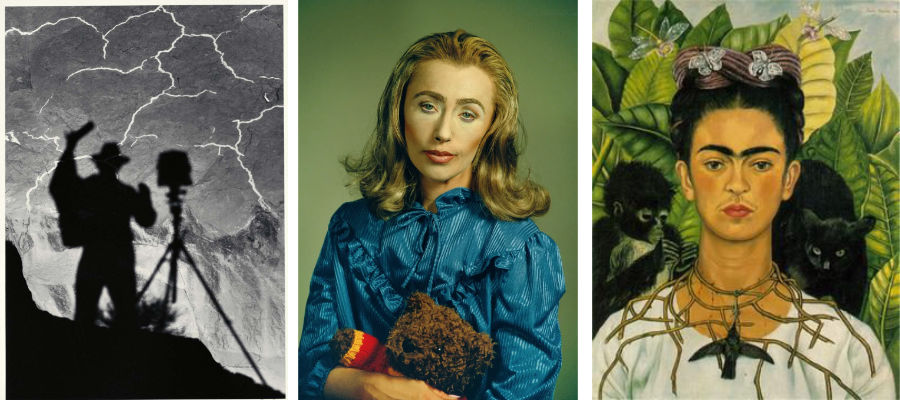 Ansel Adams, Cindy Sherman, Frida Kahlo