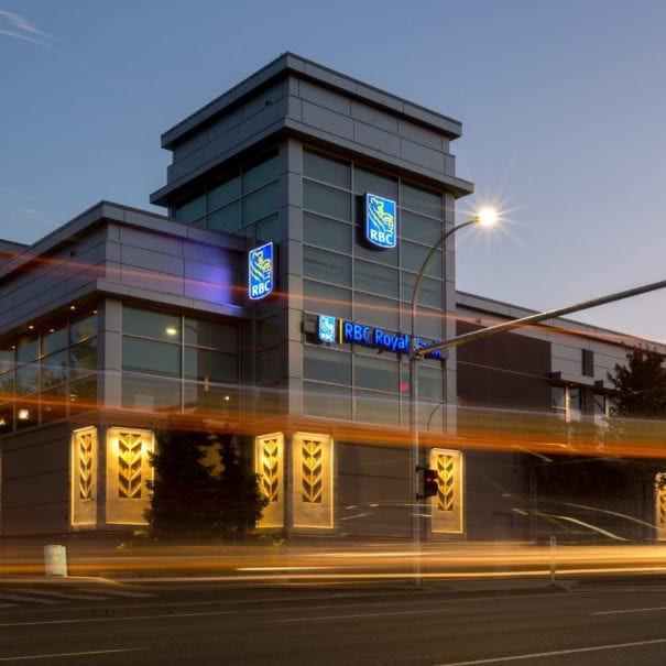 RBC building at night