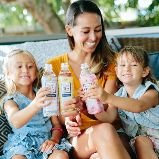 mom and kids with Ito En