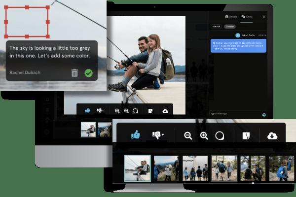 Snapwire platform showing collaboration