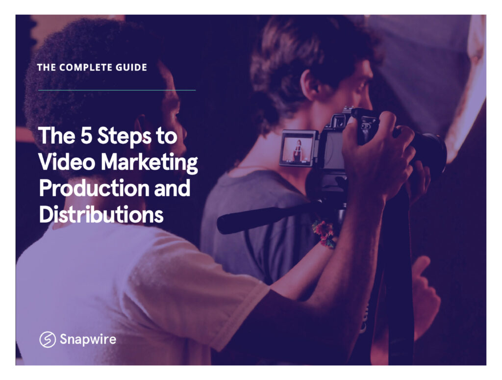 5 steps to video marketing production ebook cover