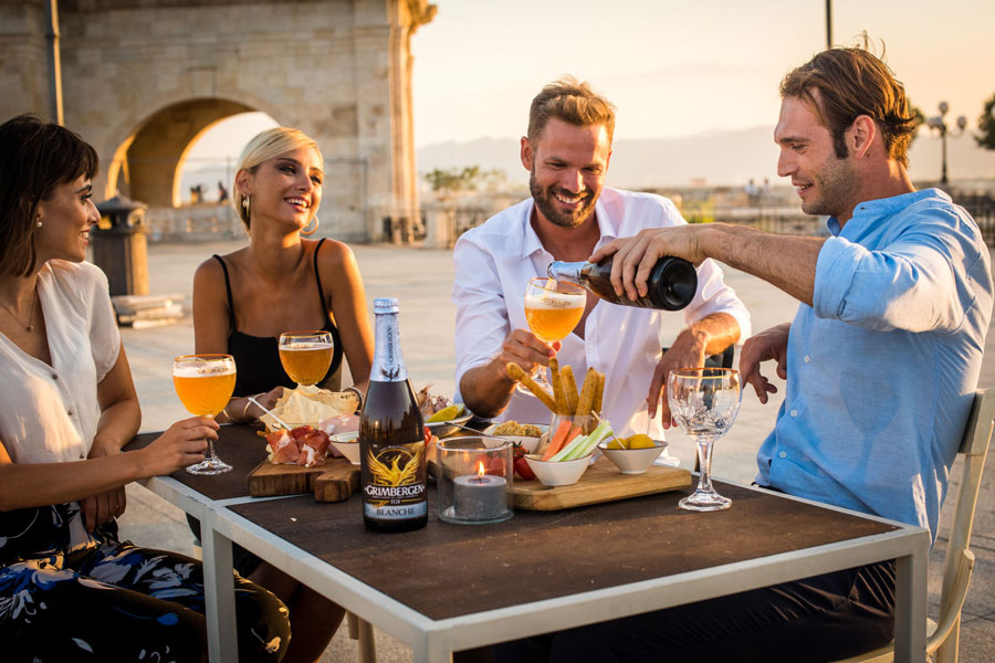 Grimbergen Carlsberg Group drinking beer visual content
