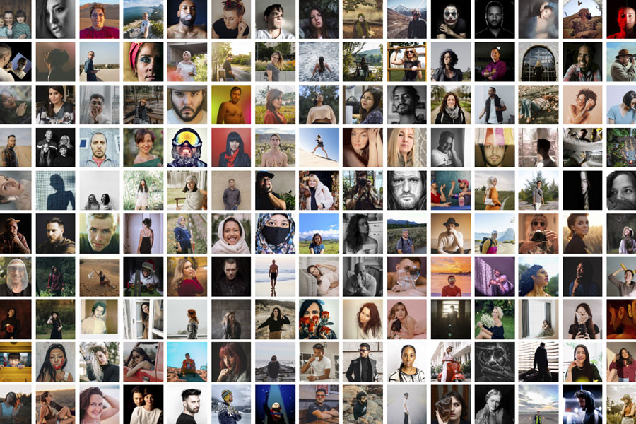 grid of close-up portraits of snapwire creators