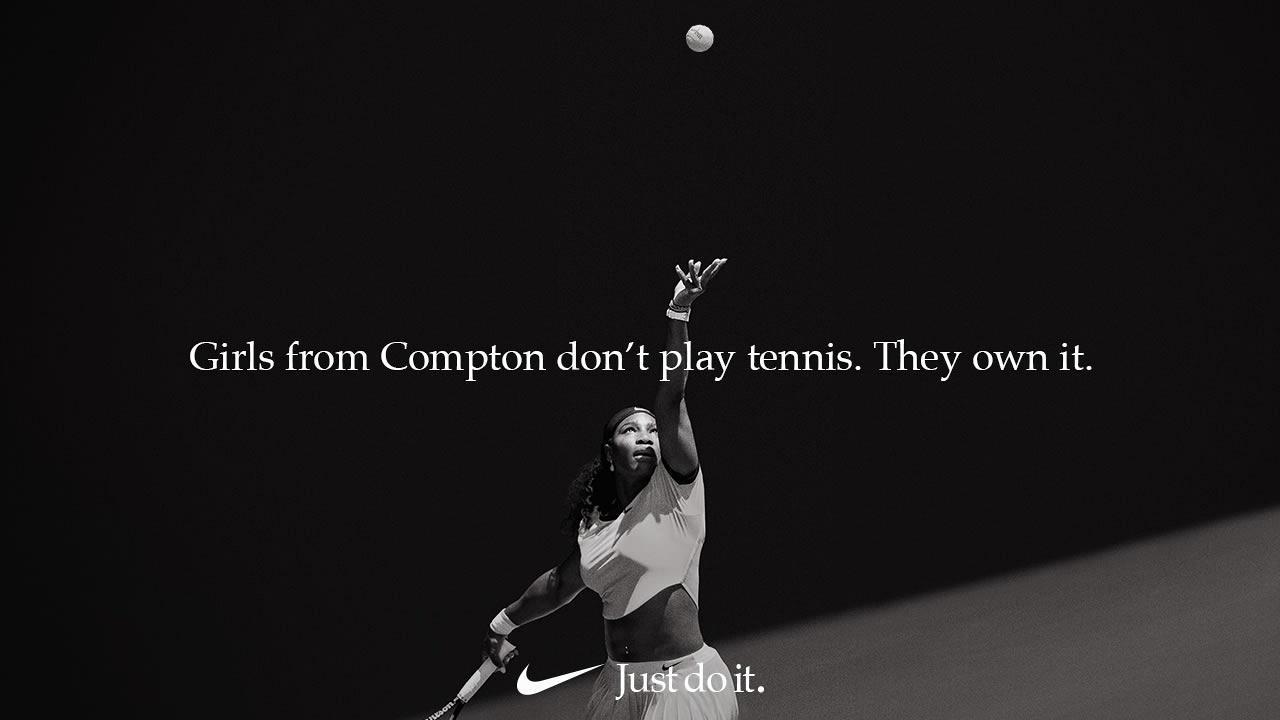 Serena Williams Nike ad visual content
