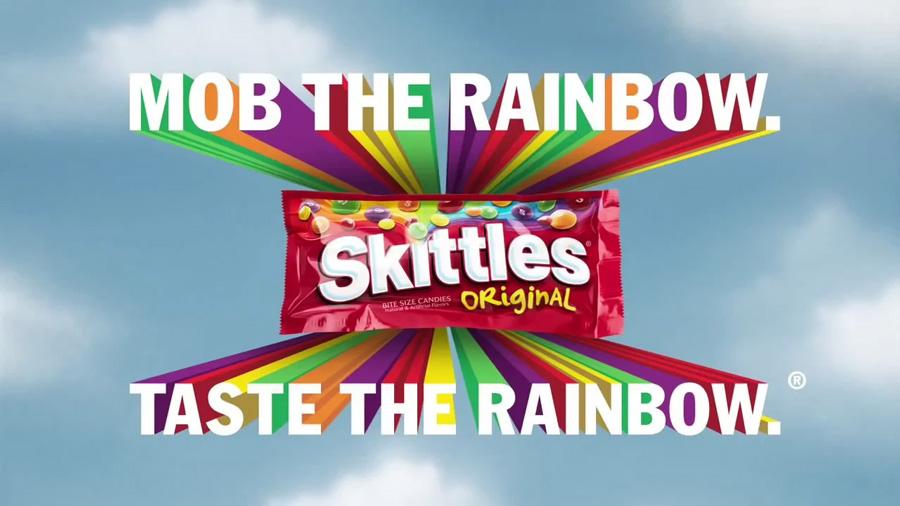 Skittles advertisement visual content