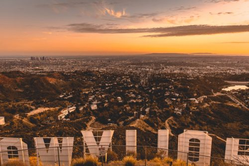 Hollywood Sign Landscape Visual Content