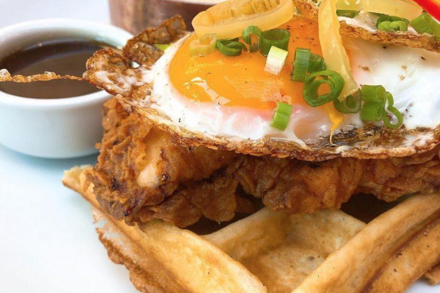 chicken and waffles breakfast